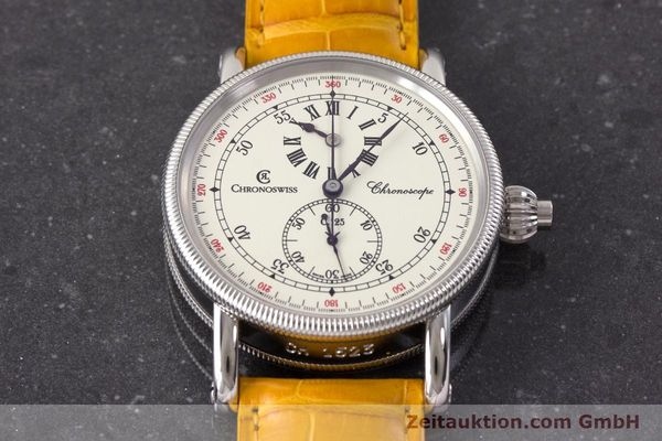 Used luxury watch Chronoswiss Chronoscope chronograph steel automatic Kal. 125 Ref. CH1523  | 161599 16