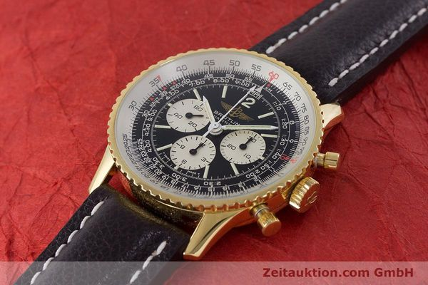Used luxury watch Breitling Navitimer chronograph gold-plated manual winding Kal. LWO 1873 Ref. 81600  | 161603 01