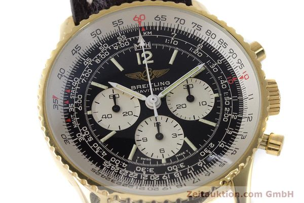 Used luxury watch Breitling Navitimer chronograph gold-plated manual winding Kal. LWO 1873 Ref. 81600  | 161603 02