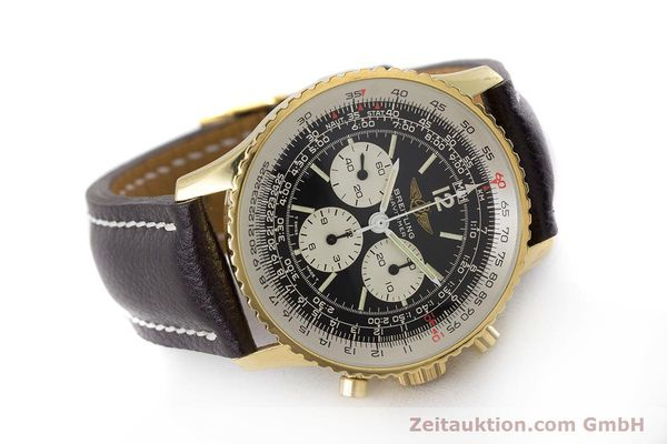 Used luxury watch Breitling Navitimer chronograph gold-plated manual winding Kal. LWO 1873 Ref. 81600  | 161603 03