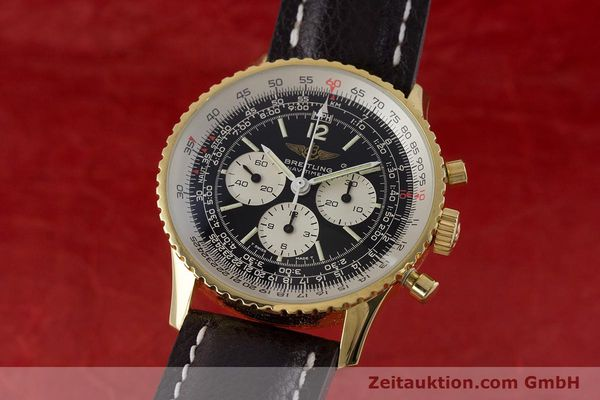 Used luxury watch Breitling Navitimer chronograph gold-plated manual winding Kal. LWO 1873 Ref. 81600  | 161603 04
