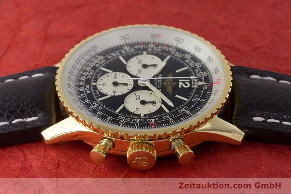 Used luxury watch Breitling Navitimer chronograph gold-plated manual winding Kal. LWO 1873 Ref. 81600  | 161603 05