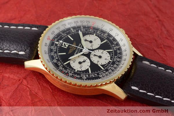 Used luxury watch Breitling Navitimer chronograph gold-plated manual winding Kal. LWO 1873 Ref. 81600  | 161603 12