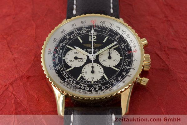 Used luxury watch Breitling Navitimer chronograph gold-plated manual winding Kal. LWO 1873 Ref. 81600  | 161603 13