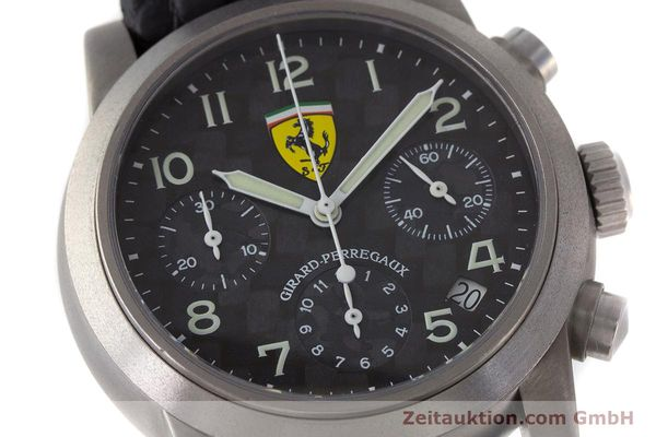 Used luxury watch Girard Perregaux Ferrari chronograph titanium automatic Kal. 2280-781 Ref. 8020 LIMITED EDITION | 161618 02