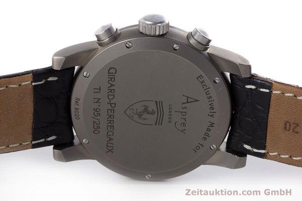 Used luxury watch Girard Perregaux Ferrari chronograph titanium automatic Kal. 2280-781 Ref. 8020 LIMITED EDITION | 161618 09