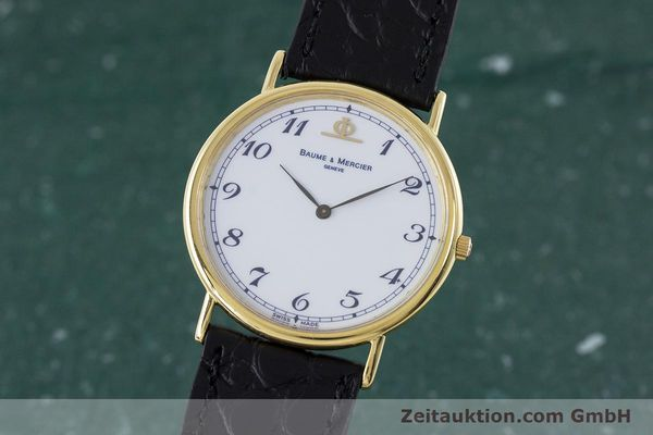 BAUME & MERCIER LADY 18K (0,750) RONDE GOLD DAMENUHR 15600 VP: 6300,- EURO [161632]