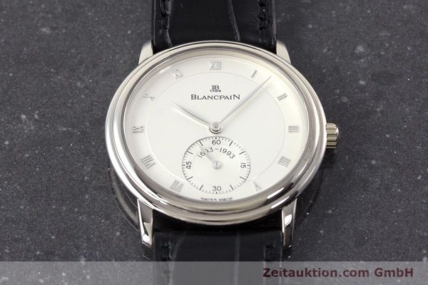 Used luxury watch Blancpain Villeret 18 ct white gold manual winding Kal. 64-1 Ref. 7001-1527-55 LIMITED EDITION | 161638 17