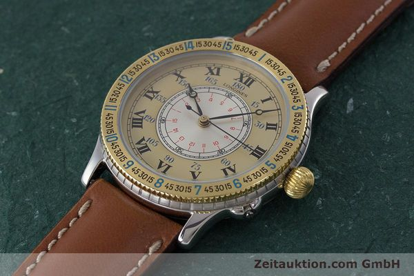 Used luxury watch Longines Lindbergh Stundenwinkel steel / gold automatic Kal. L989.2 Ref. 989.5215  | 161640 01