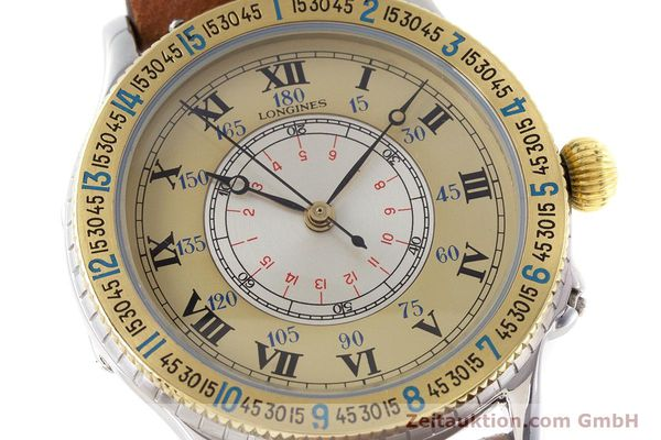 Used luxury watch Longines Lindbergh Stundenwinkel steel / gold automatic Kal. L989.2 Ref. 989.5215  | 161640 02