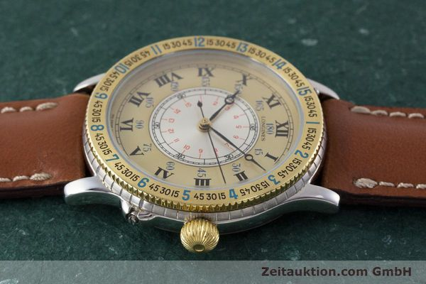 Used luxury watch Longines Lindbergh Stundenwinkel steel / gold automatic Kal. L989.2 Ref. 989.5215  | 161640 05