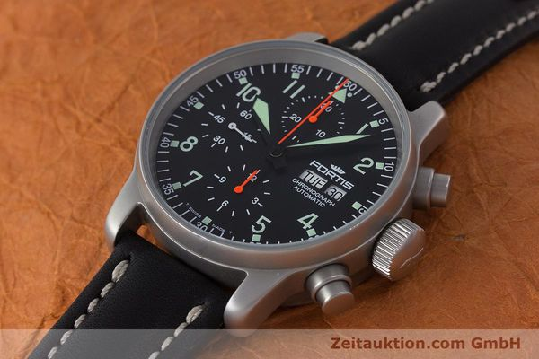 Used luxury watch Fortis Flieger Chronograph chronograph steel automatic Kal. ETA 7750 Ref. 597.10.141.2  | 161650 01