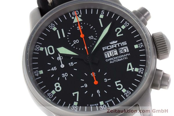 Used luxury watch Fortis Flieger Chronograph chronograph steel automatic Kal. ETA 7750 Ref. 597.10.141.2  | 161650 02