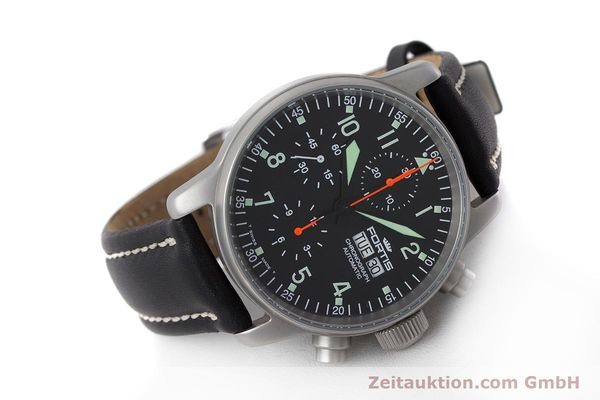 Used luxury watch Fortis Flieger Chronograph chronograph steel automatic Kal. ETA 7750 Ref. 597.10.141.2  | 161650 03