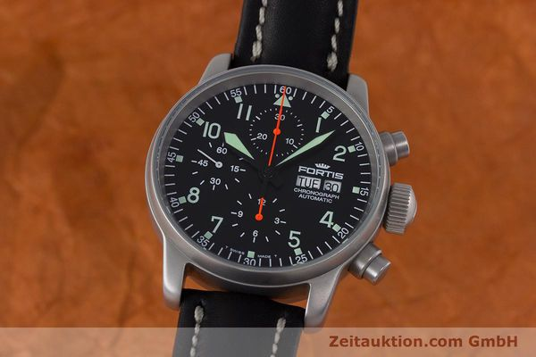 Used luxury watch Fortis Flieger Chronograph chronograph steel automatic Kal. ETA 7750 Ref. 597.10.141.2  | 161650 04