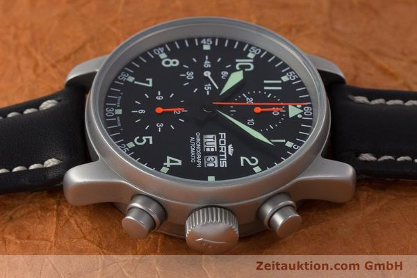 Used luxury watch Fortis Flieger Chronograph chronograph steel automatic Kal. ETA 7750 Ref. 597.10.141.2  | 161650 05