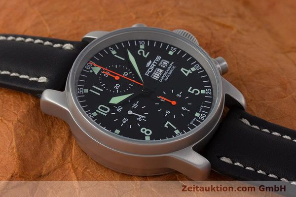 Used luxury watch Fortis Flieger Chronograph chronograph steel automatic Kal. ETA 7750 Ref. 597.10.141.2  | 161650 15