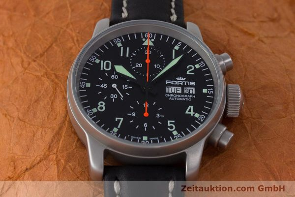Used luxury watch Fortis Flieger Chronograph chronograph steel automatic Kal. ETA 7750 Ref. 597.10.141.2  | 161650 16