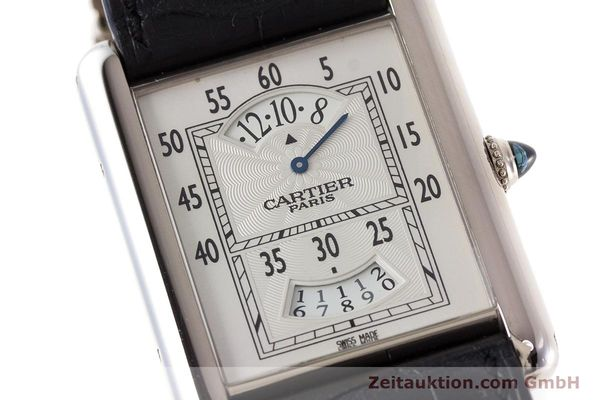 Used luxury watch Cartier Tank 18 ct white gold manual winding Kal. 9902MC Ref. 2919  | 161657 02