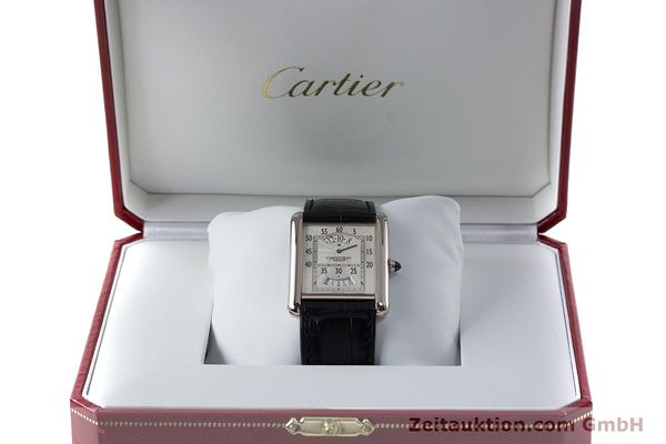 Used luxury watch Cartier Tank 18 ct white gold manual winding Kal. 9902MC Ref. 2919  | 161657 07