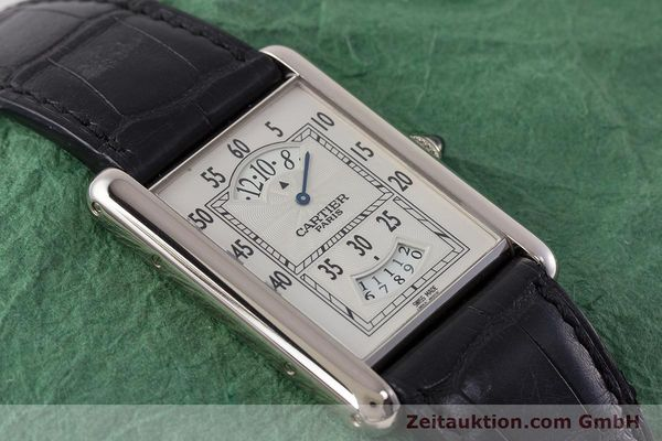 Used luxury watch Cartier Tank 18 ct white gold manual winding Kal. 9902MC Ref. 2919  | 161657 14