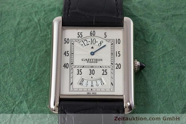 Used luxury watch Cartier Tank 18 ct white gold manual winding Kal. 9902MC Ref. 2919  | 161657 15
