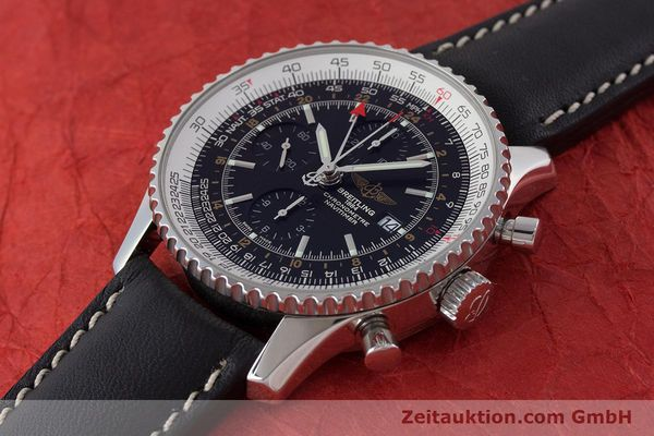 Used luxury watch Breitling Navitimer World chronograph steel automatic Kal. B24 ETA 7754 Ref. A24322  | 161669 01