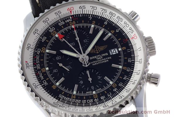 Used luxury watch Breitling Navitimer World chronograph steel automatic Kal. B24 ETA 7754 Ref. A24322  | 161669 02