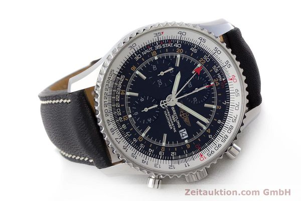 Used luxury watch Breitling Navitimer World chronograph steel automatic Kal. B24 ETA 7754 Ref. A24322  | 161669 03