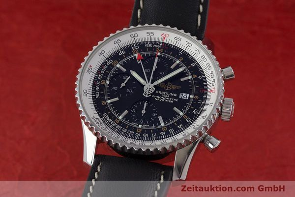 Used luxury watch Breitling Navitimer World chronograph steel automatic Kal. B24 ETA 7754 Ref. A24322  | 161669 04