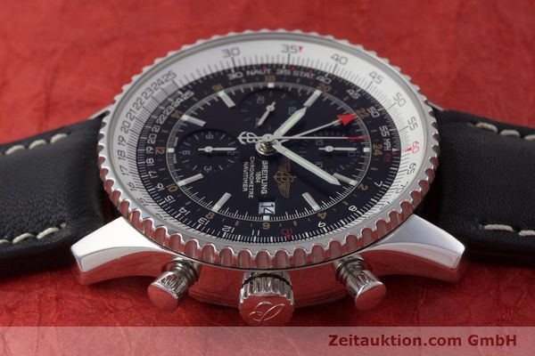 Used luxury watch Breitling Navitimer World chronograph steel automatic Kal. B24 ETA 7754 Ref. A24322  | 161669 05