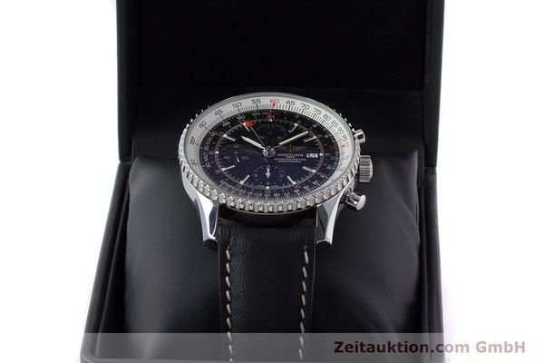 Used luxury watch Breitling Navitimer World chronograph steel automatic Kal. B24 ETA 7754 Ref. A24322  | 161669 07