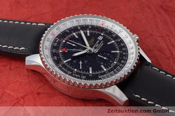 Used luxury watch Breitling Navitimer World chronograph steel automatic Kal. B24 ETA 7754 Ref. A24322  | 161669 13