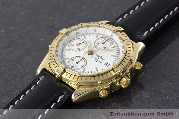 Used luxury watch Breitling Chronomat chronograph 18 ct gold automatic Kal. Valj. 7750 Ref. K13047X  | 161673 01