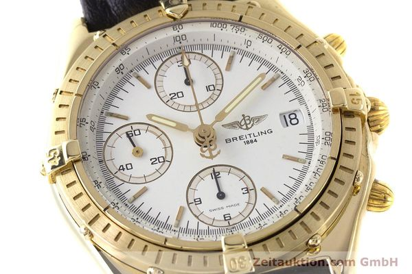 Used luxury watch Breitling Chronomat chronograph 18 ct gold automatic Kal. Valj. 7750 Ref. K13047X  | 161673 02