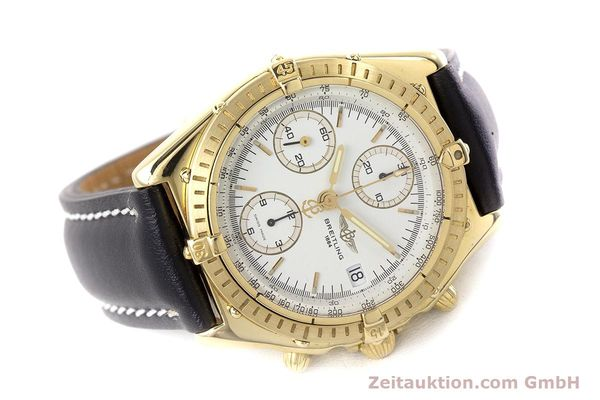 Used luxury watch Breitling Chronomat chronograph 18 ct gold automatic Kal. Valj. 7750 Ref. K13047X  | 161673 03