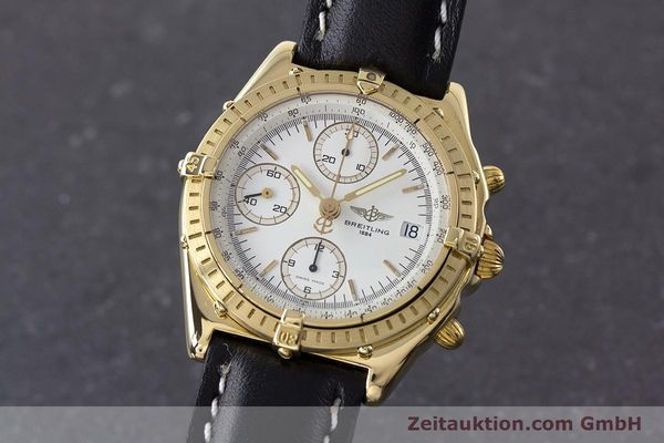 Used luxury watch Breitling Chronomat chronograph 18 ct gold automatic Kal. Valj. 7750 Ref. K13047X  | 161673 04