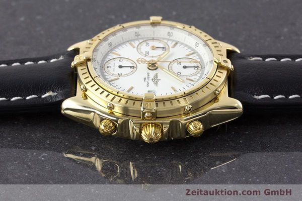 Used luxury watch Breitling Chronomat chronograph 18 ct gold automatic Kal. Valj. 7750 Ref. K13047X  | 161673 05
