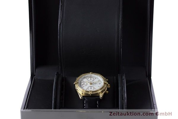Used luxury watch Breitling Chronomat chronograph 18 ct gold automatic Kal. Valj. 7750 Ref. K13047X  | 161673 07