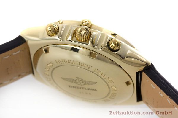 Used luxury watch Breitling Chronomat chronograph 18 ct gold automatic Kal. Valj. 7750 Ref. K13047X  | 161673 08