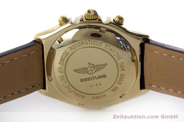 Used luxury watch Breitling Chronomat chronograph 18 ct gold automatic Kal. Valj. 7750 Ref. K13047X  | 161673 09