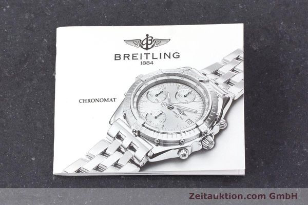 Used luxury watch Breitling Chronomat chronograph 18 ct gold automatic Kal. Valj. 7750 Ref. K13047X  | 161673 12