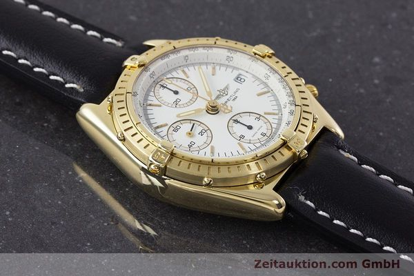 Used luxury watch Breitling Chronomat chronograph 18 ct gold automatic Kal. Valj. 7750 Ref. K13047X  | 161673 15