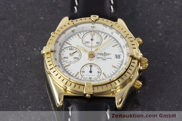Used luxury watch Breitling Chronomat chronograph 18 ct gold automatic Kal. Valj. 7750 Ref. K13047X  | 161673 16