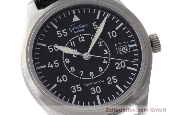 Used luxury watch Glashütte Navigator steel automatic Kal. GUB 10-30  | 161676 02