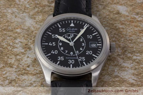 Used luxury watch Glashütte Navigator steel automatic Kal. GUB 10-30  | 161676 13
