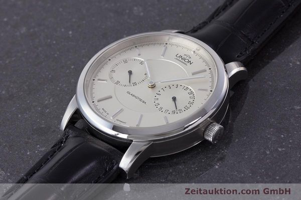 Used luxury watch Union Glashütte Zeigerdatum steel automatic Kal. 26 Ref. 2602150510  | 161682 01
