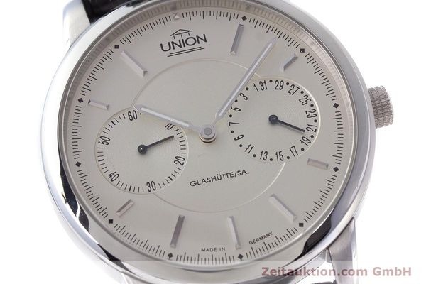 Used luxury watch Union Glashütte Zeigerdatum steel automatic Kal. 26 Ref. 2602150510  | 161682 02