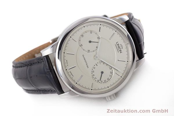 Used luxury watch Union Glashütte Zeigerdatum steel automatic Kal. 26 Ref. 2602150510  | 161682 03