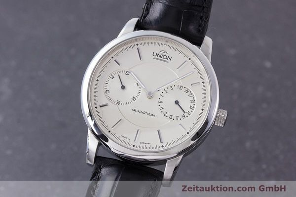 Used luxury watch Union Glashütte Zeigerdatum steel automatic Kal. 26 Ref. 2602150510  | 161682 04